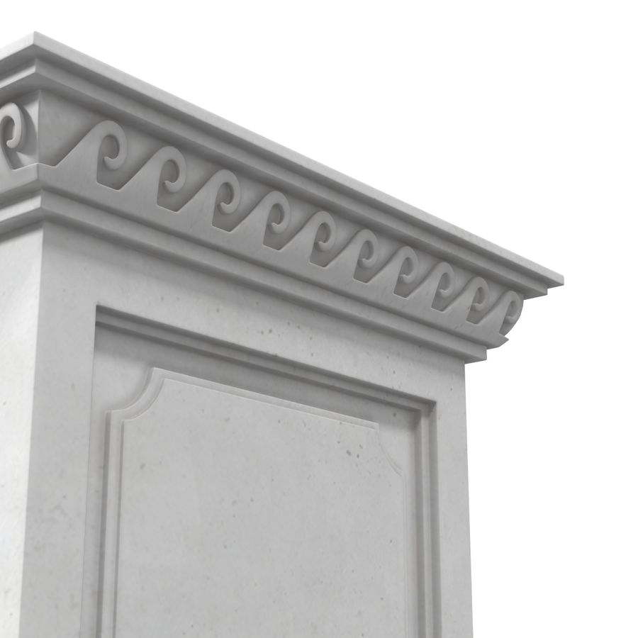 Column Base Greco Roman 2 royalty-free 3d model - Preview no. 8