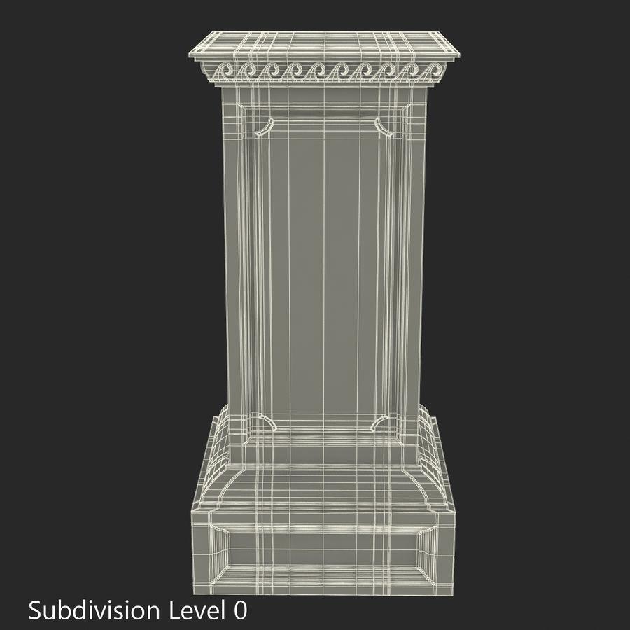 Column Base Greco Roman 2 royalty-free 3d model - Preview no. 9