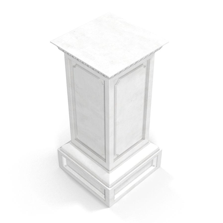 Column Base Greco Roman 2 royalty-free 3d model - Preview no. 6