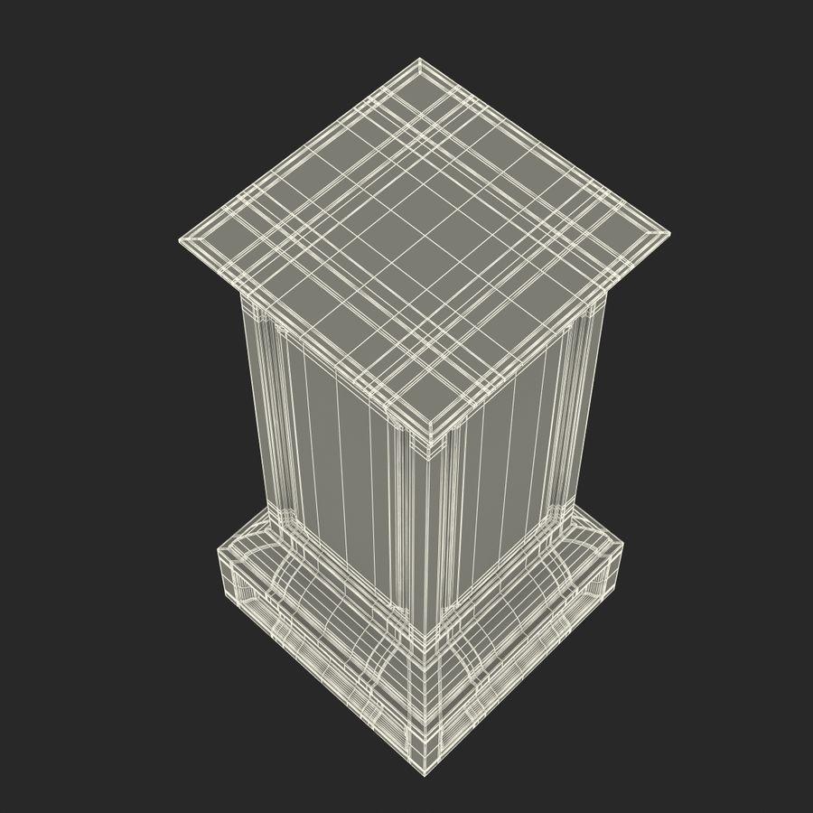 Column Base Greco Roman 2 royalty-free 3d model - Preview no. 17