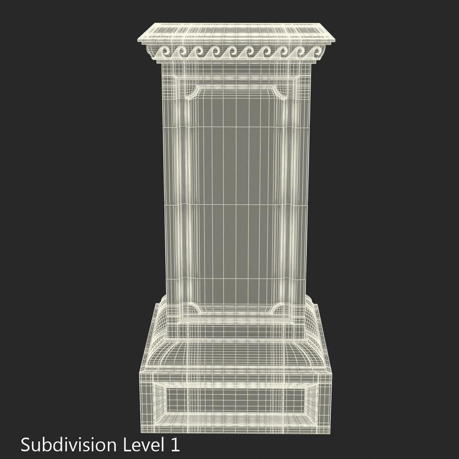Column Base Greco Roman 2 royalty-free 3d model - Preview no. 10