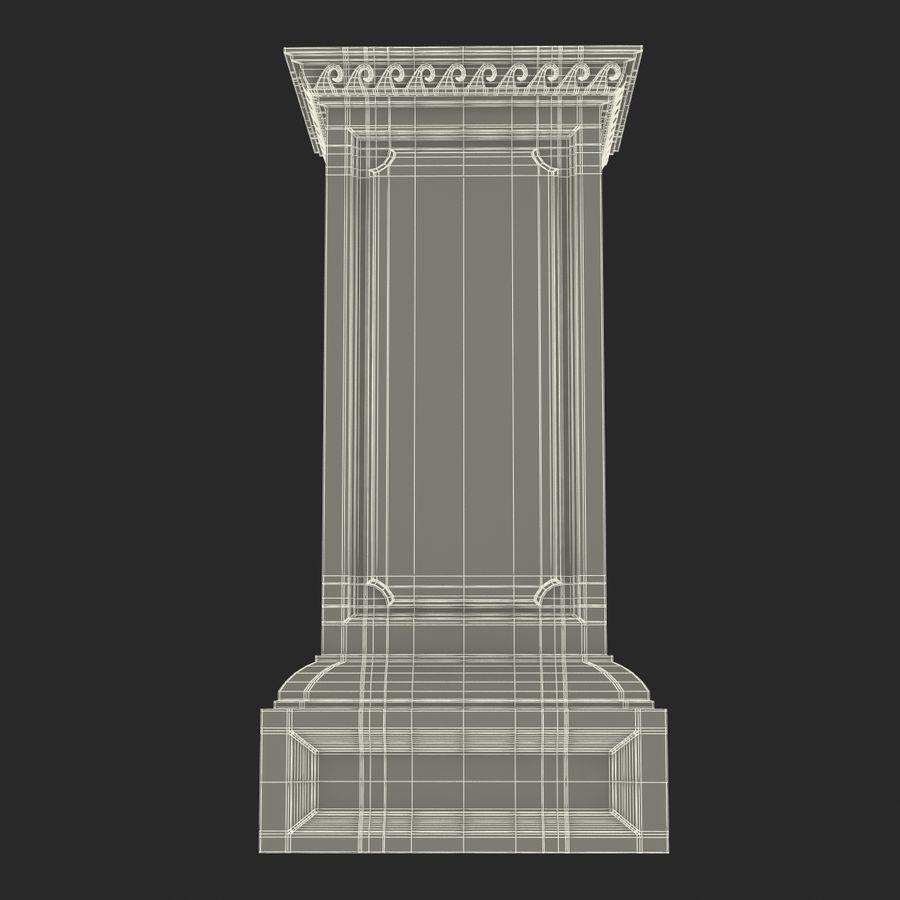 Column Base Greco Roman 2 royalty-free 3d model - Preview no. 16