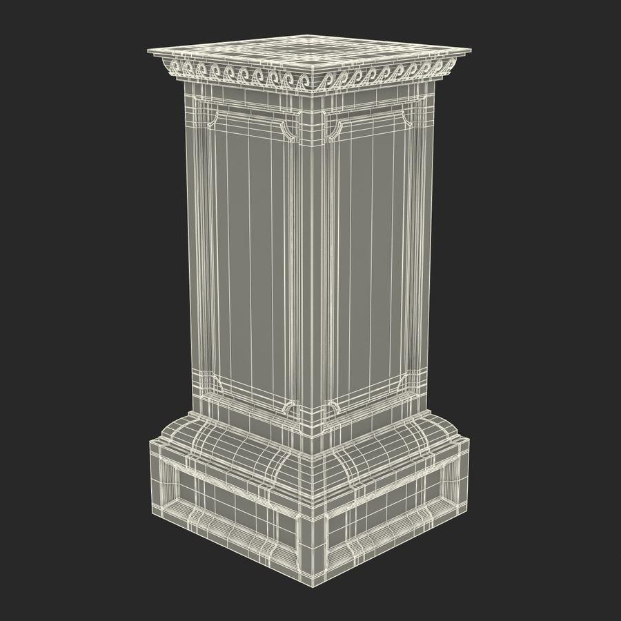 Column Base Greco Roman 2 royalty-free 3d model - Preview no. 14