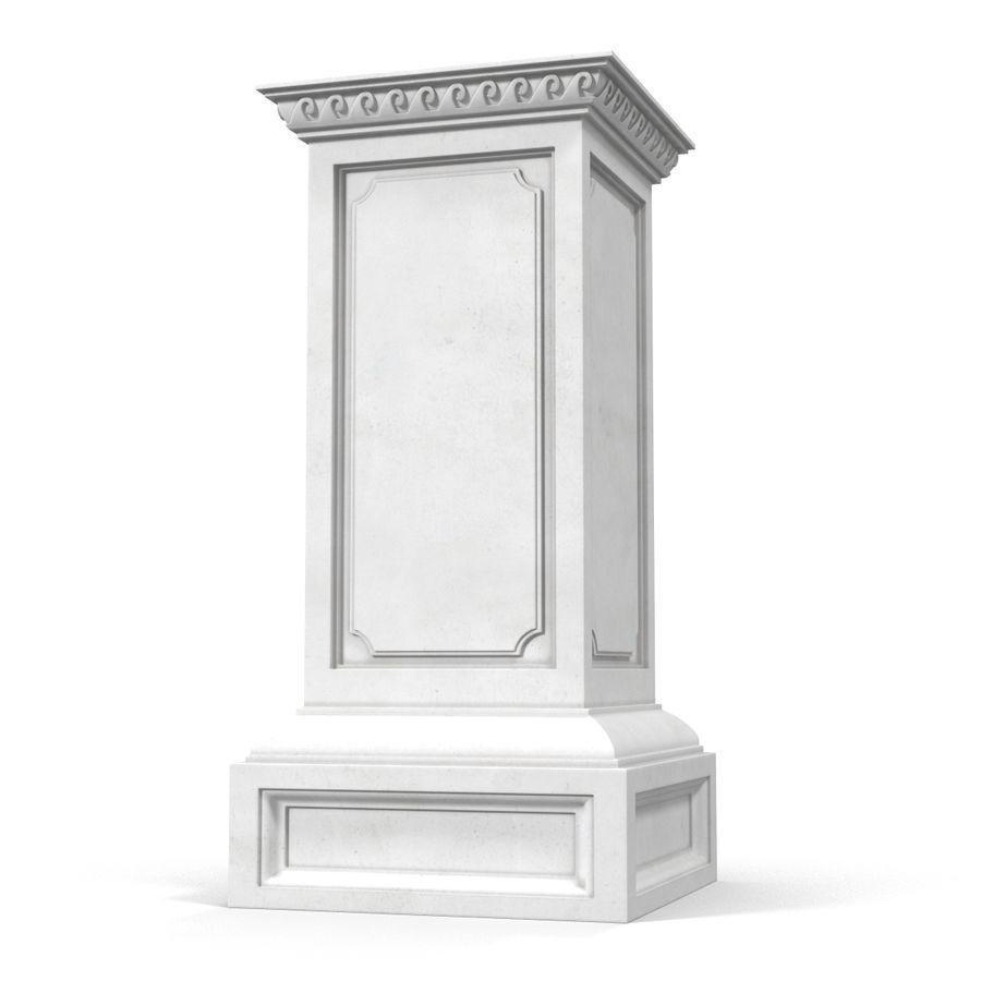 Column Base Greco Roman 2 royalty-free 3d model - Preview no. 3