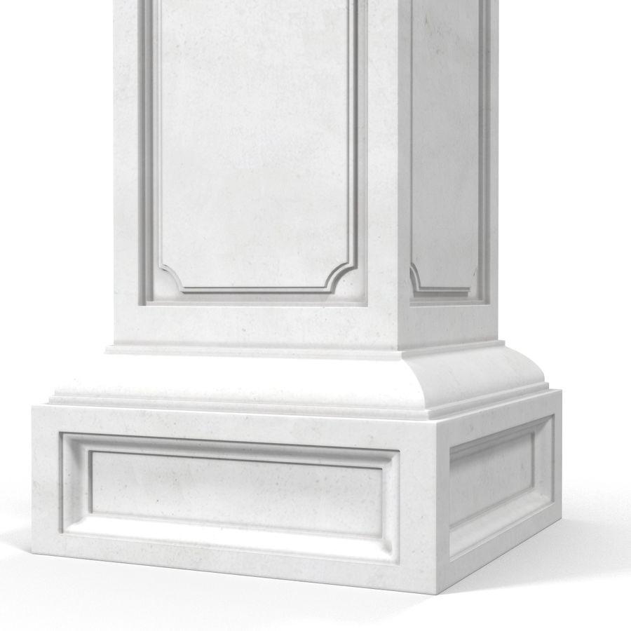Column Base Greco Roman 2 royalty-free 3d model - Preview no. 7