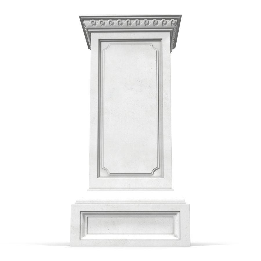Column Base Greco Roman 2 royalty-free 3d model - Preview no. 2