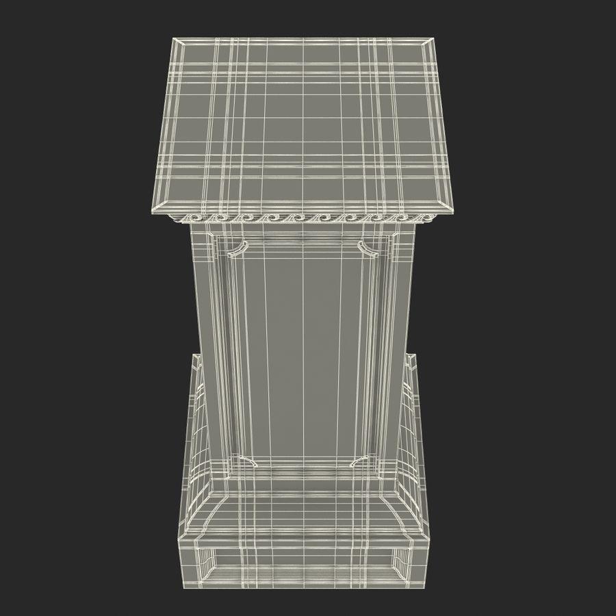 Column Base Greco Roman 2 royalty-free 3d model - Preview no. 15