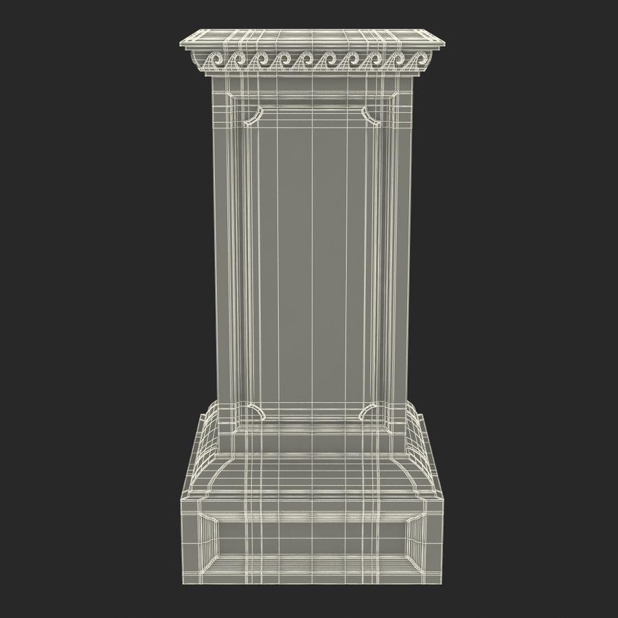 Column Base Greco Roman 2 royalty-free 3d model - Preview no. 13