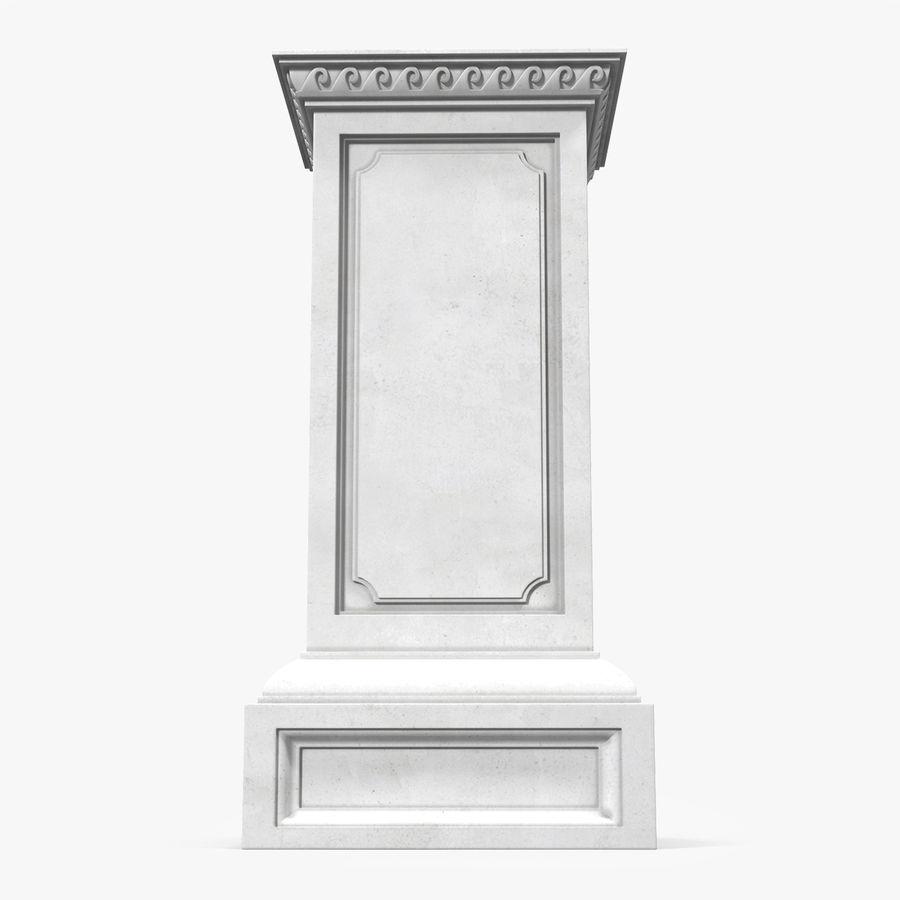 Column Base Greco Roman 2 royalty-free 3d model - Preview no. 1
