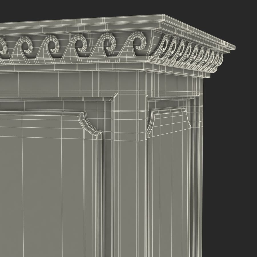 Column Base Greco Roman 2 royalty-free 3d model - Preview no. 19