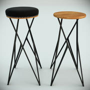 Linon stool by Alberto Vitelio 3d model