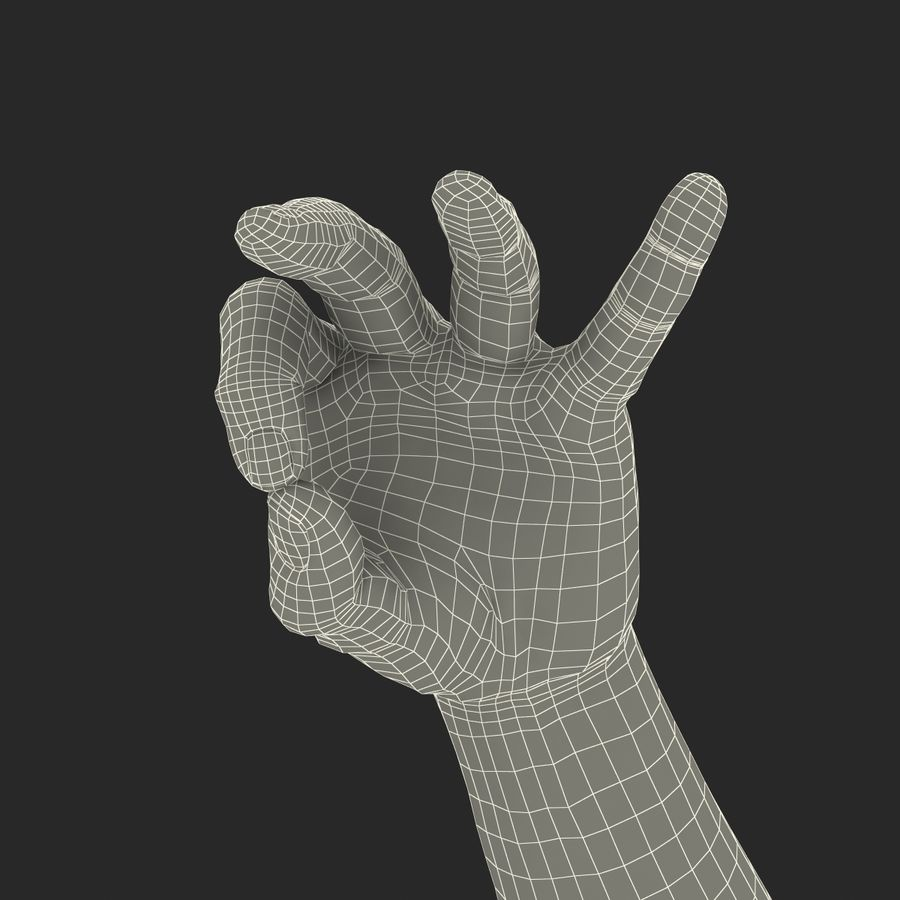 Man Hands Pose 5 royalty-free 3d model - Preview no. 22