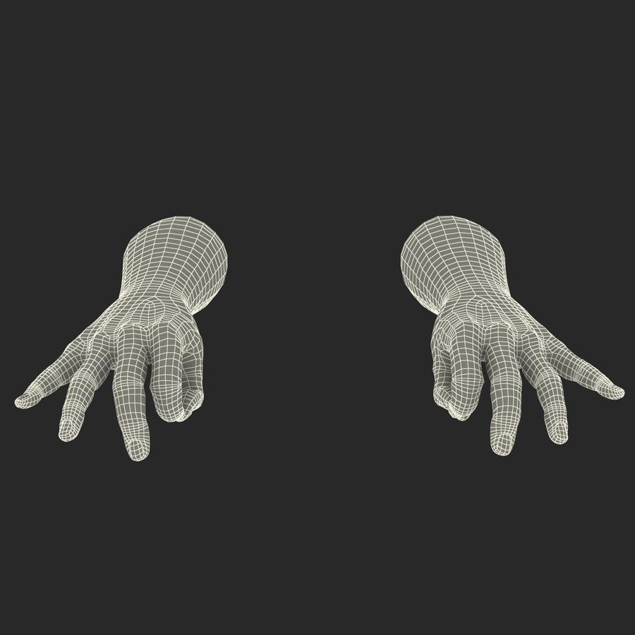 Man Hands Pose 5 royalty-free 3d model - Preview no. 20