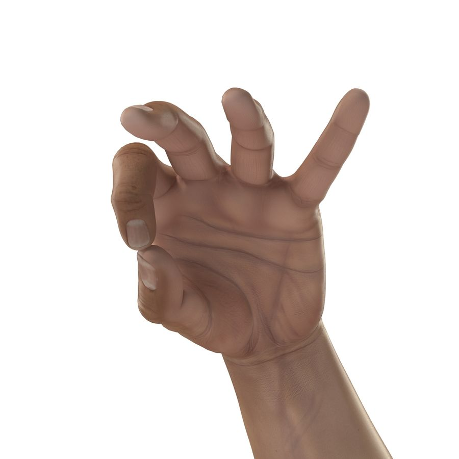 Man Hands Pose 5 royalty-free 3d model - Preview no. 10