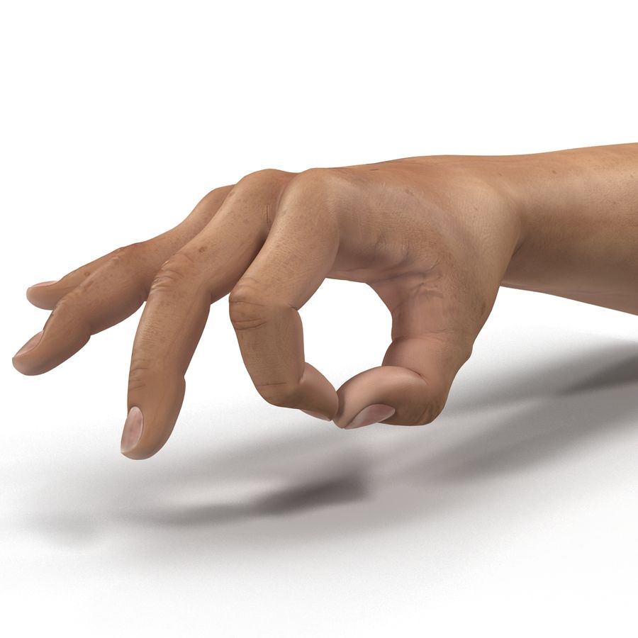 Man Hands Pose 5 royalty-free 3d model - Preview no. 12