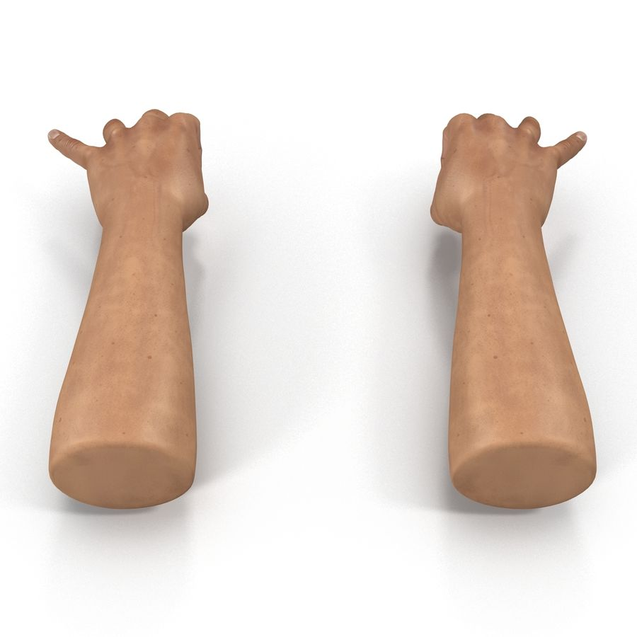 Man Hands Pose 5 royalty-free 3d model - Preview no. 4
