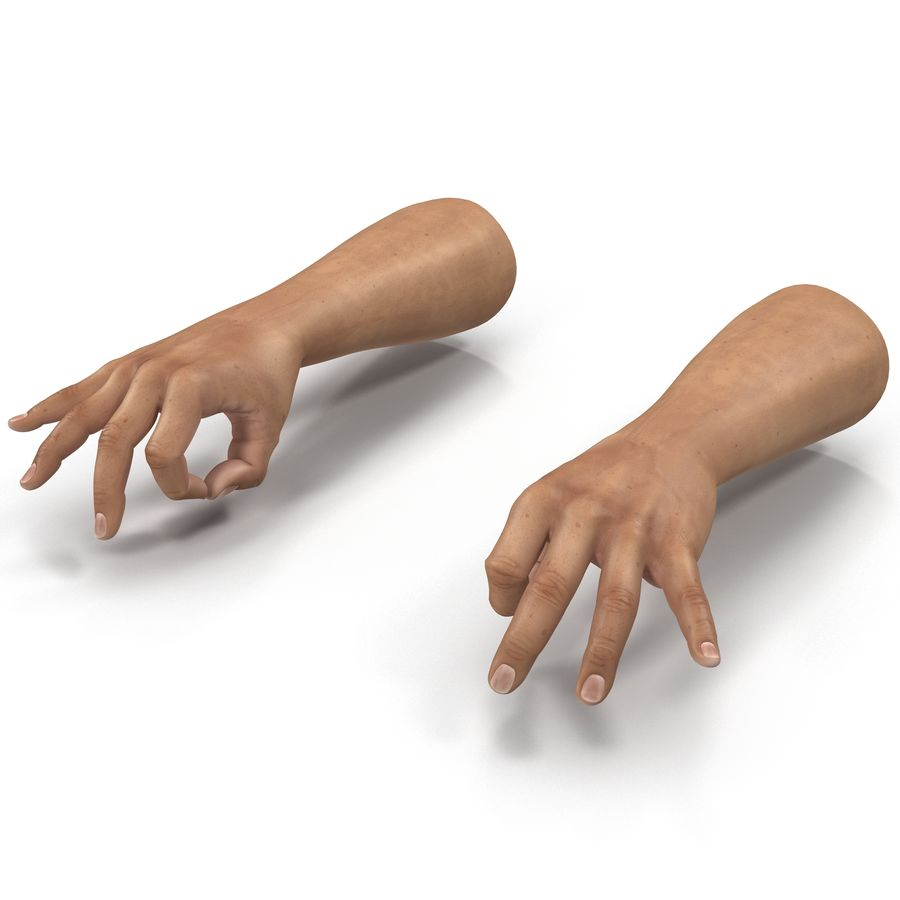 Man Hands Pose 5 royalty-free 3d model - Preview no. 2