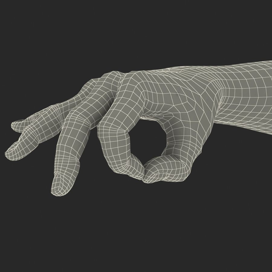 Man Hands Pose 5 royalty-free 3d model - Preview no. 24