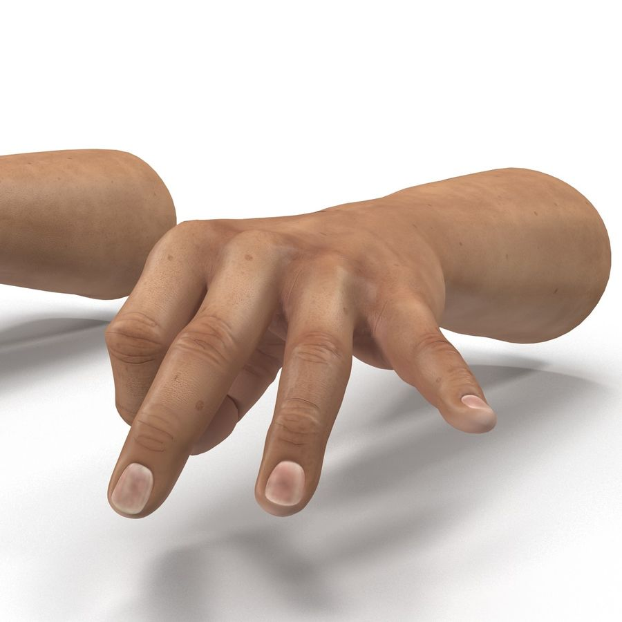 Man Hands Pose 5 royalty-free 3d model - Preview no. 11