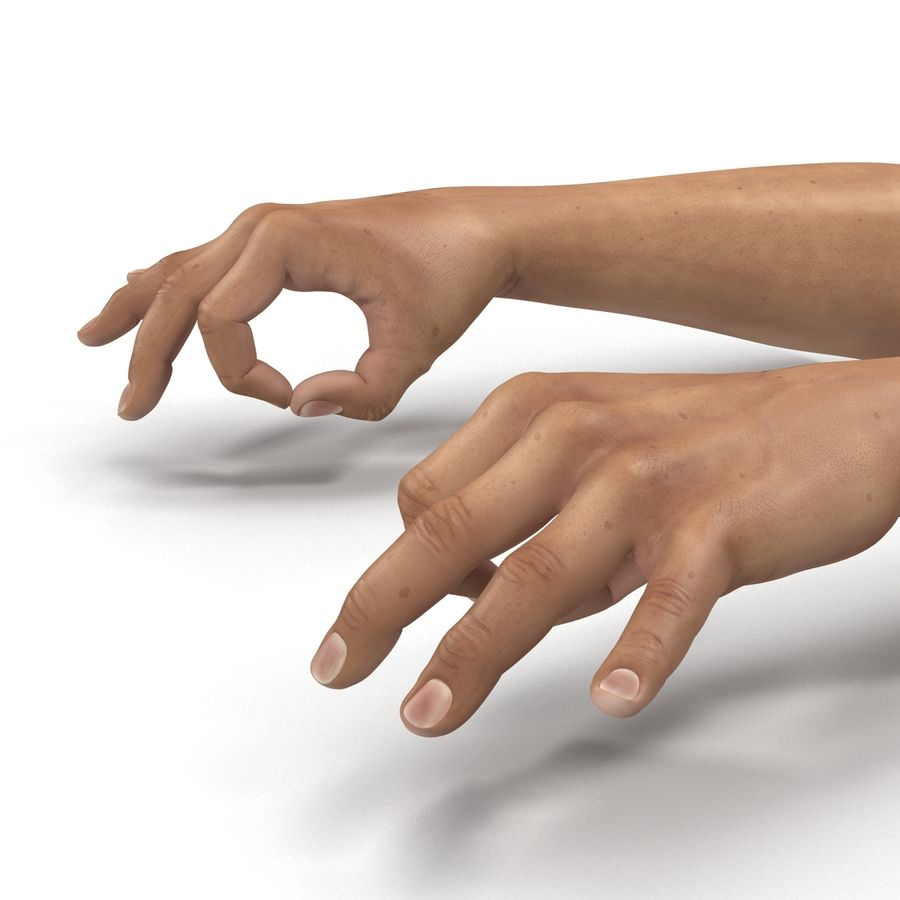Man Hands Pose 5 royalty-free 3d model - Preview no. 13