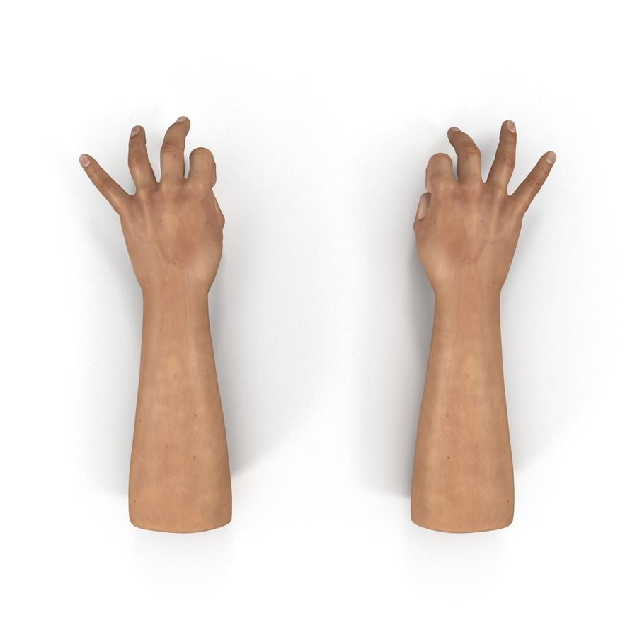 Man Hands Pose 5 royalty-free 3d model - Preview no. 3