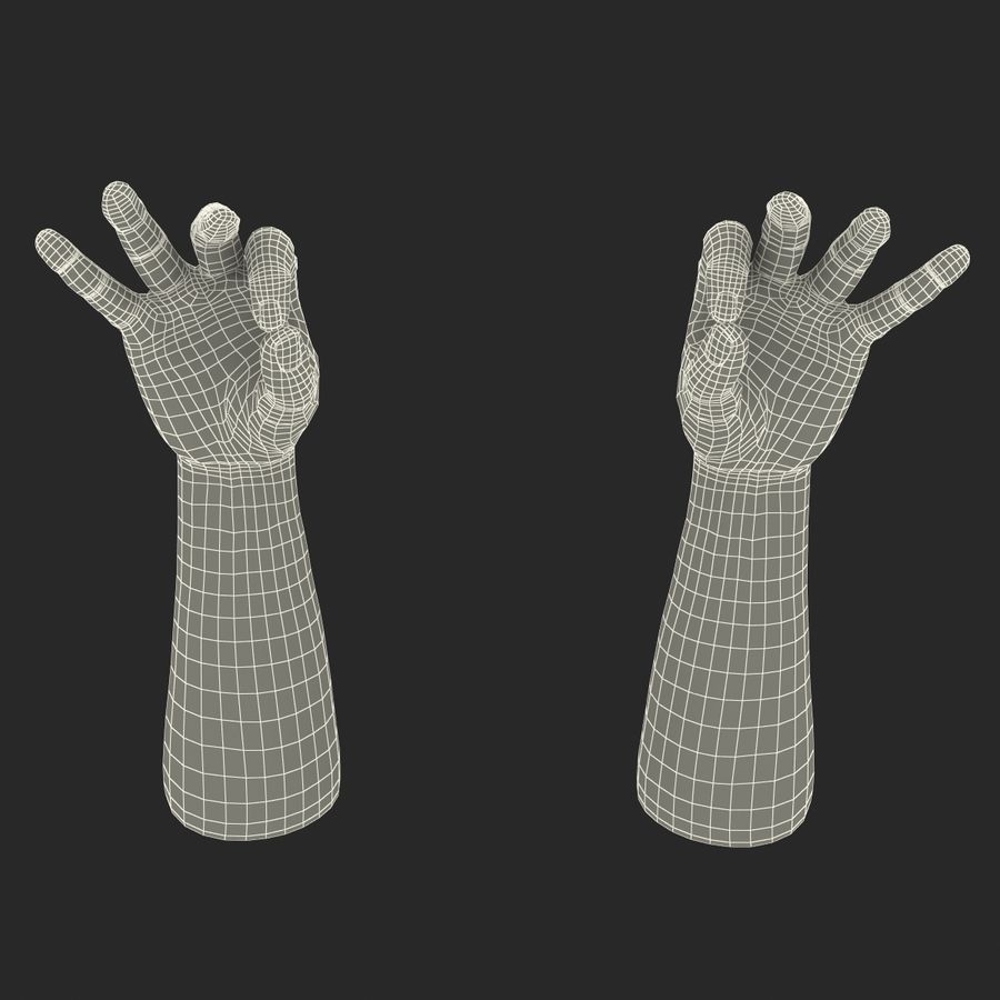 Man Hands Pose 5 royalty-free 3d model - Preview no. 21