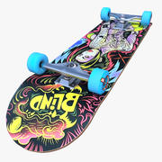 Skateboard-Donner-blinde Haut-Sammlung 3d model