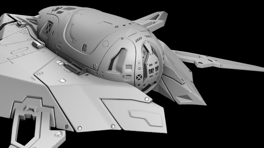 Space shuttle royalty-free 3d model - Preview no. 3