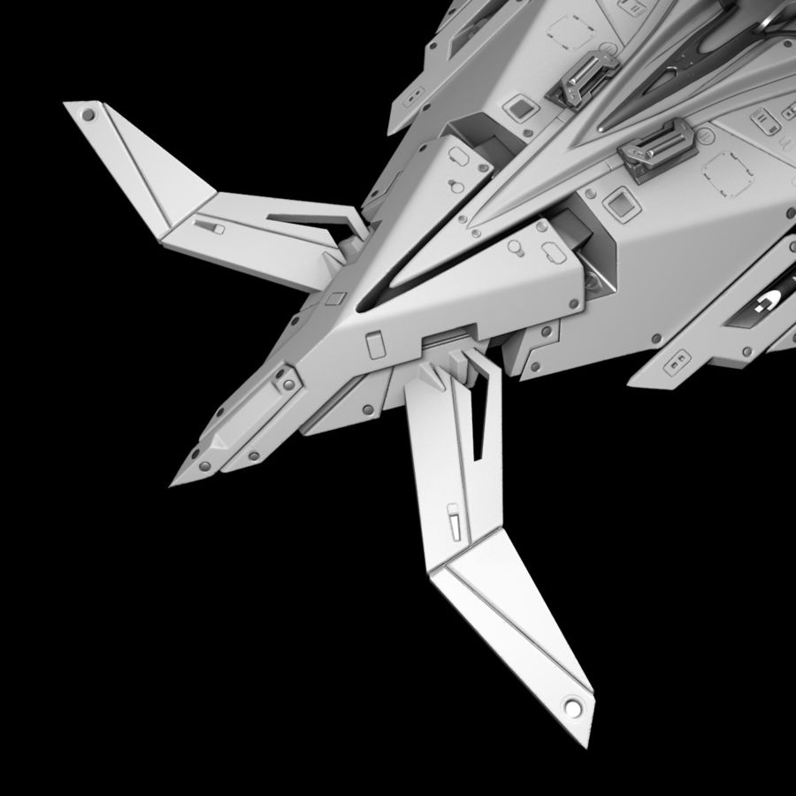 Space shuttle royalty-free 3d model - Preview no. 13