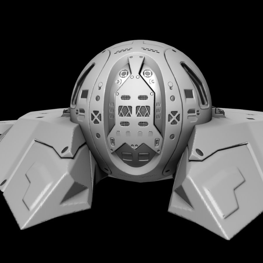 Space shuttle royalty-free 3d model - Preview no. 18