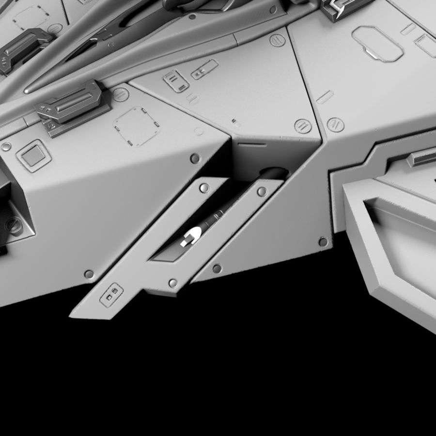 Space shuttle royalty-free 3d model - Preview no. 26