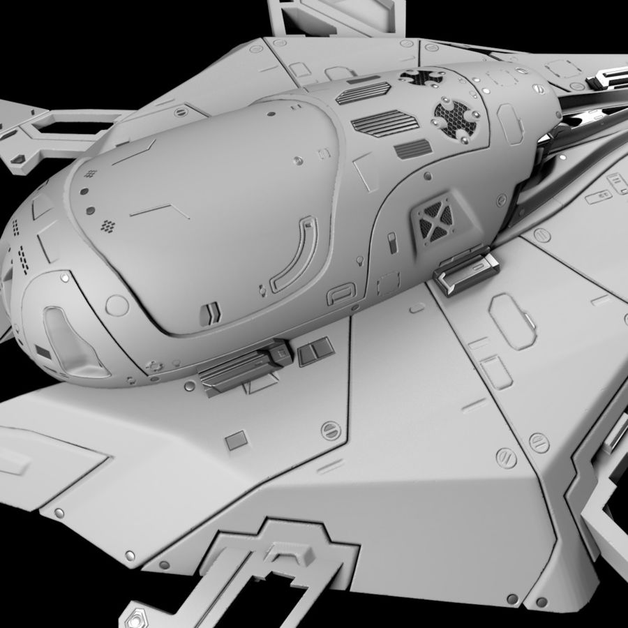 Space shuttle royalty-free 3d model - Preview no. 16