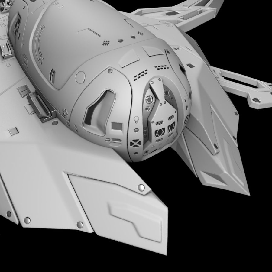 Space shuttle royalty-free 3d model - Preview no. 9