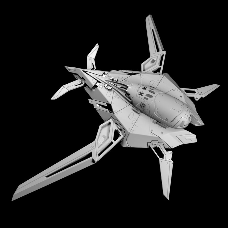 Space shuttle royalty-free 3d model - Preview no. 7