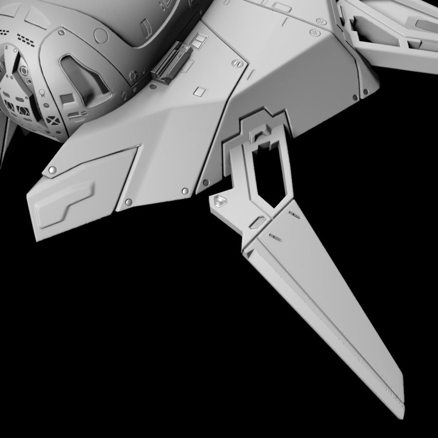 Space shuttle royalty-free 3d model - Preview no. 29