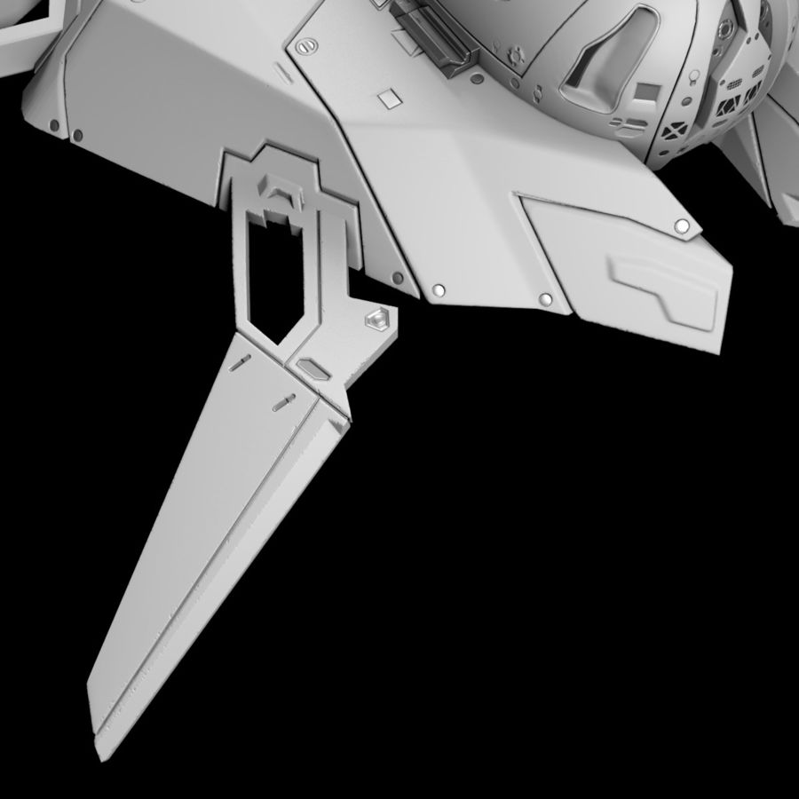 Space shuttle royalty-free 3d model - Preview no. 10