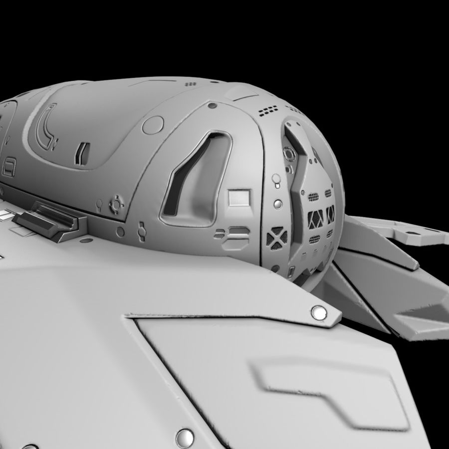 Space shuttle royalty-free 3d model - Preview no. 31