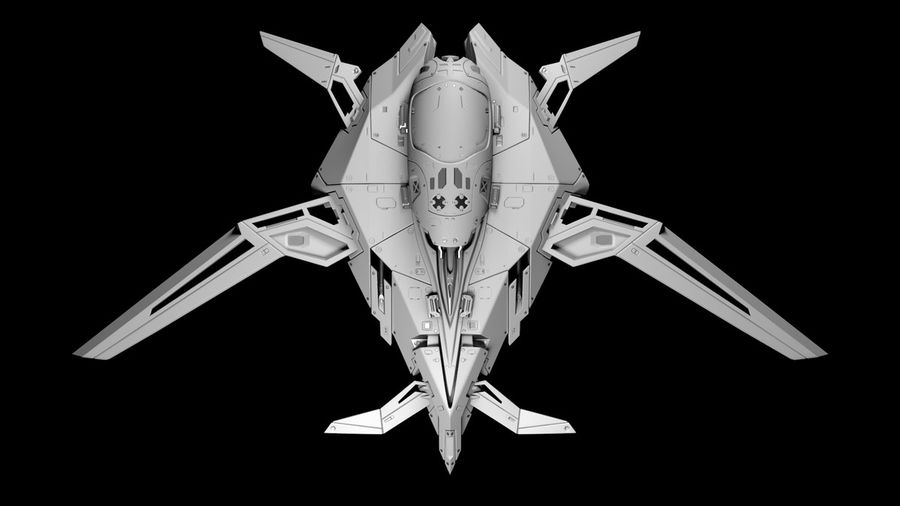 Space shuttle royalty-free 3d model - Preview no. 2