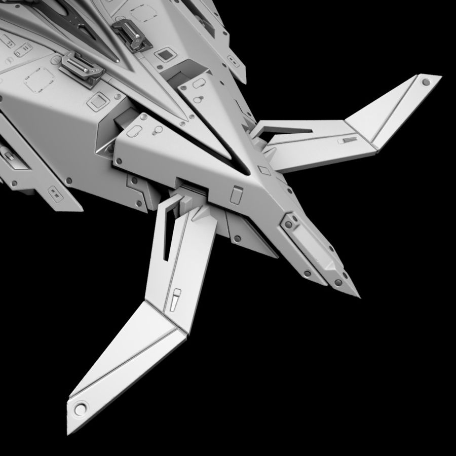 Space shuttle royalty-free 3d model - Preview no. 14