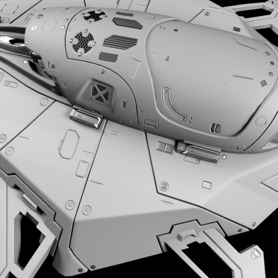 Space shuttle royalty-free 3d model - Preview no. 11