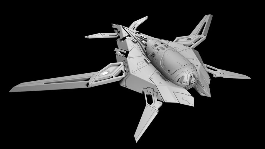 Space shuttle royalty-free 3d model - Preview no. 1