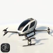 Ehang184 low poly drone 3d model