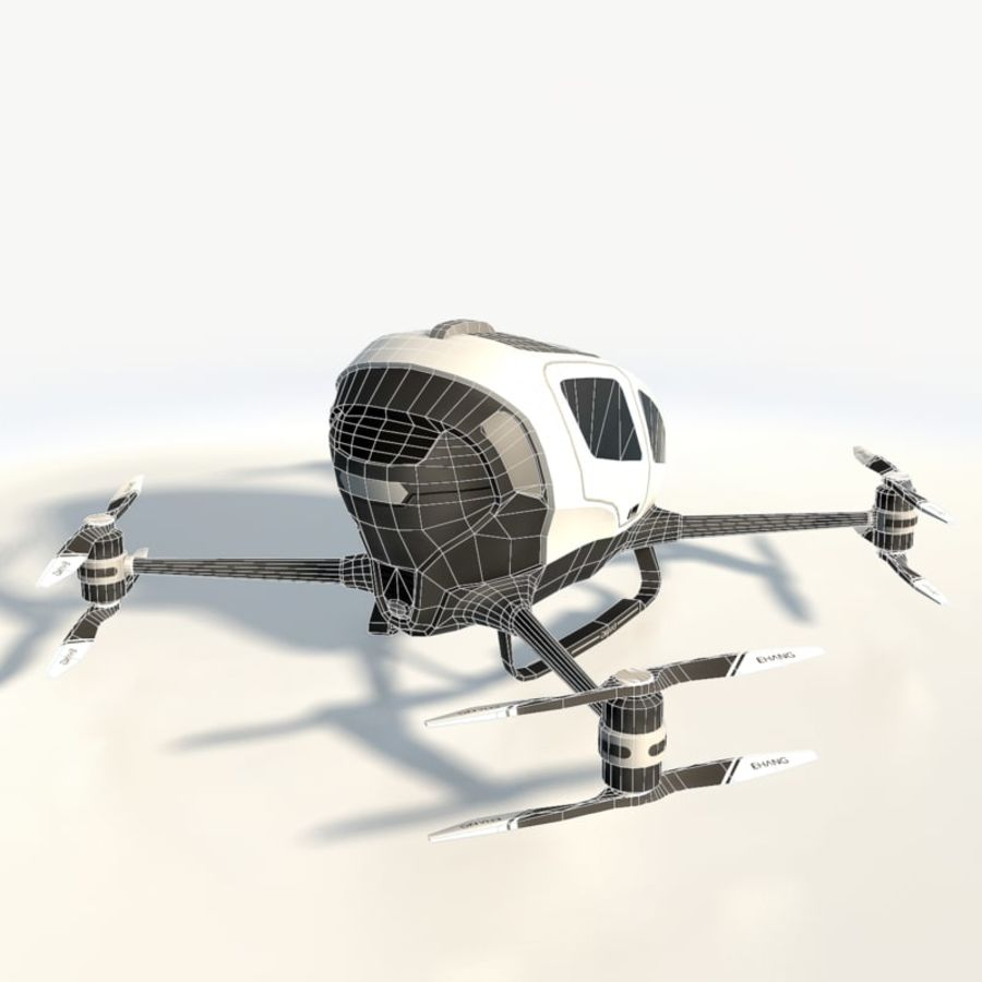 Ehang184 låg poly drone royalty-free 3d model - Preview no. 7