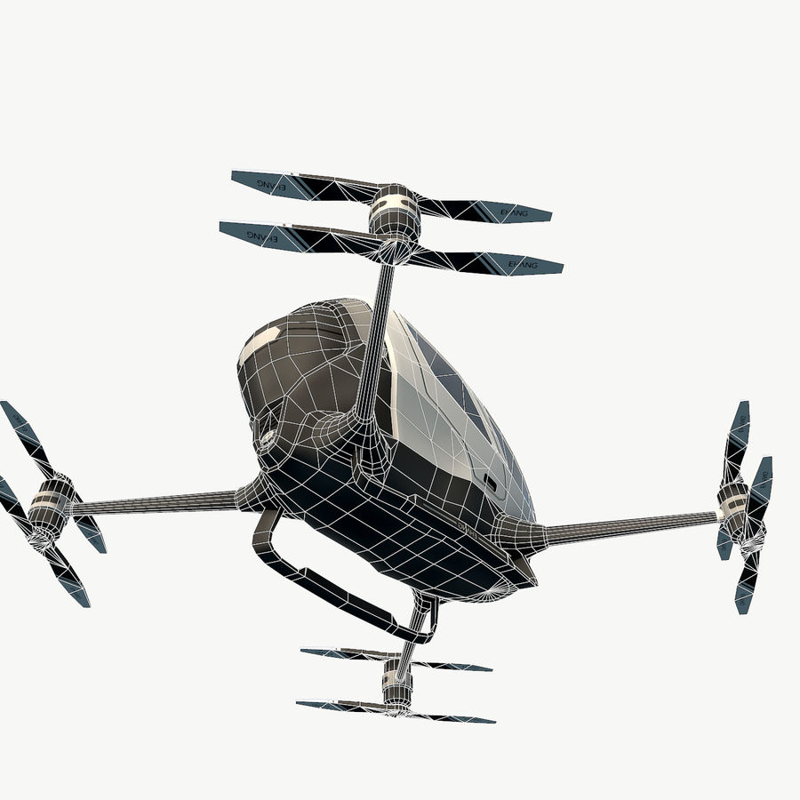 Ehang184 låg poly drone royalty-free 3d model - Preview no. 11
