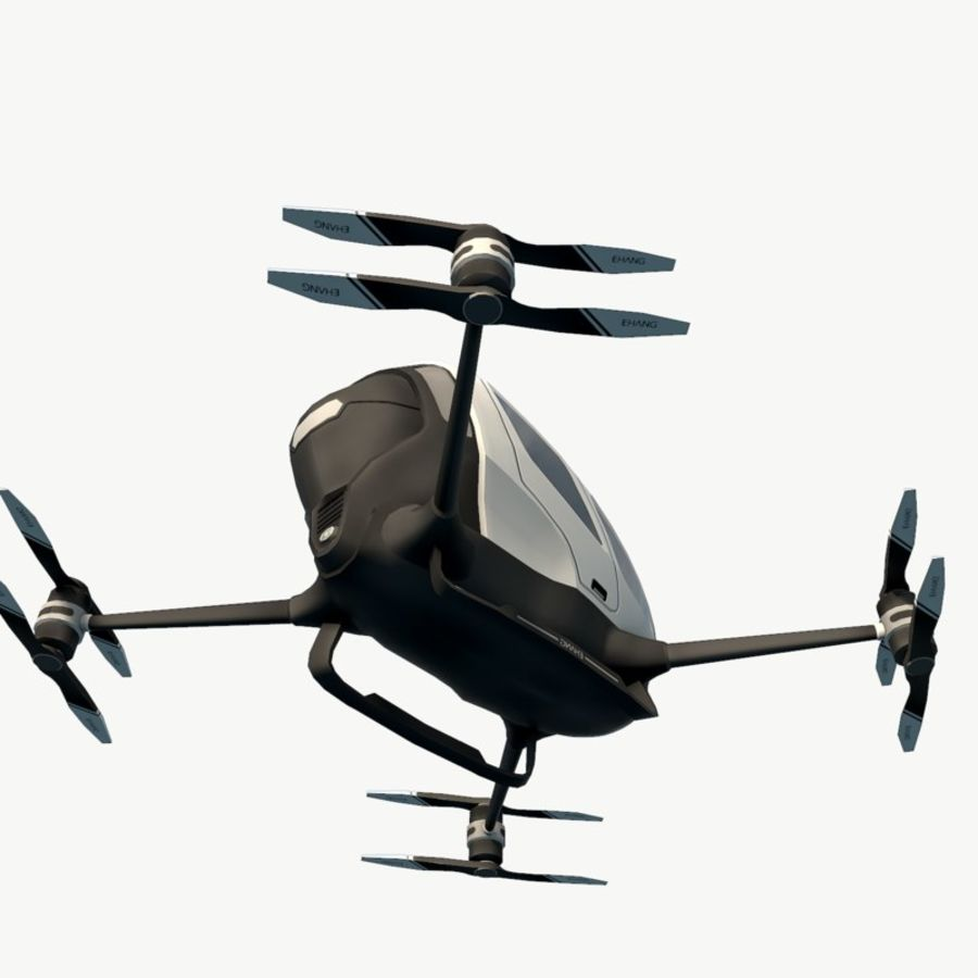 Ehang184 låg poly drone royalty-free 3d model - Preview no. 10