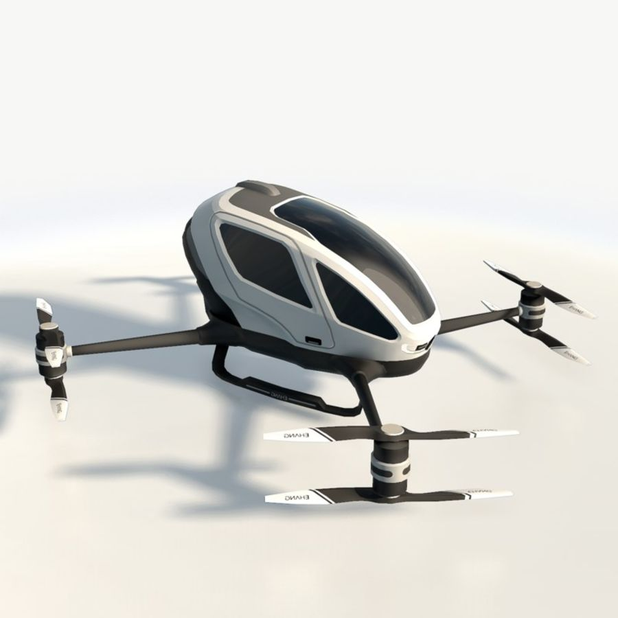 Ehang184 låg poly drone royalty-free 3d model - Preview no. 4