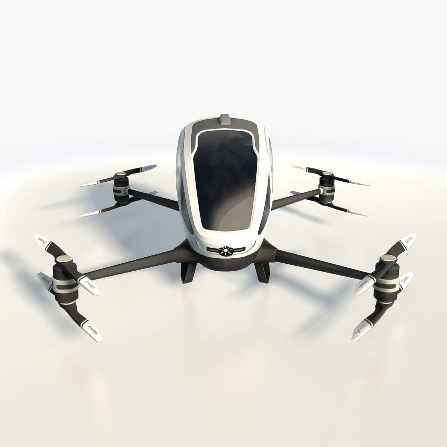 Ehang184 låg poly drone royalty-free 3d model - Preview no. 8