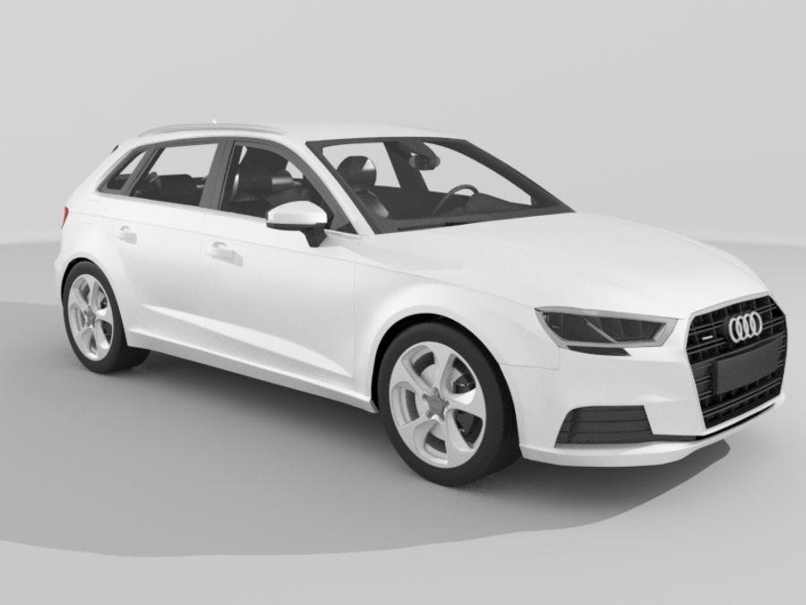 Audi A3 Sportback 2017 3d Model 39 Ma Obj Max Fbx Free3d