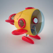 Cartoon Mini Submarine 3d model
