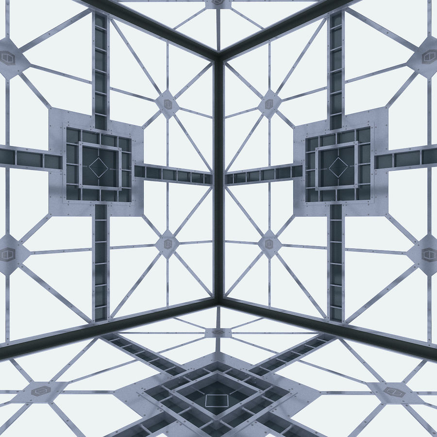Sci Fi Room (Hypercube) royalty-free 3d model - Preview no. 3